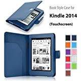 "Elsse For Kindle 6"" Glare Free - Folio Case Cover for Kindle (7th Generation), Dark Blue - will not fit previous generation Kindle devices"