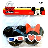 Disney 3D Mickey Mouse and Minnie Mouse Antenna Topper Set