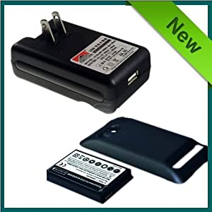 Extended battery 3500mAh , Dock Charger for SPRINT HTC EVO 4G
