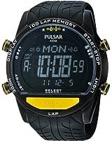 Pulsar Uhren - PV4005X1 - Montre Homme - Quartz Digitale - Alarme/Chronomètre - Bracelet Caoutchouc Noir
