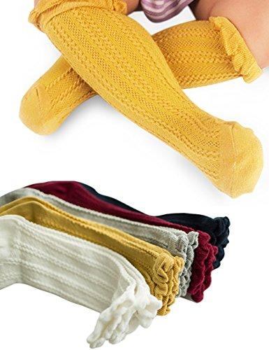 anca-demi-5-pairs-baby-toddler-anti-mosquito-knee-length-cotton-socks