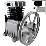 "145 PSI Cylinder Aluminum Air Compressor Pump 2HP Motor 10-1/2"" Flywheel 9cfm HD"