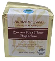 Authentic Foods Brown Rice Flour, Superfine - 3 Lb