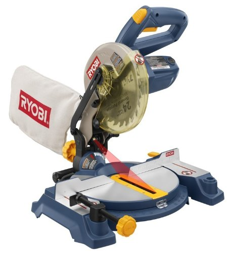 Factory Reconditioned RYOBI ZRTS1141L 9 Amp 7-1/4-Inch Miter Saw with Laser