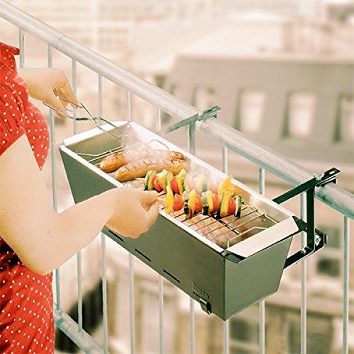 Balkongrill – Grill – für jedes Geländer Maße: 61,5 x 21,5 x 19,5 cm online kaufen