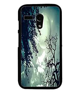 PrintDhaba Moon D-2056 Back Case Cover for MOTOROLA MOTO G (Multi-Coloured)