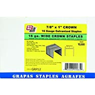 Prime Source Pneumatic GRP12 P Wide Crown Finish Staple-16GA 1X7/8 STAPLE