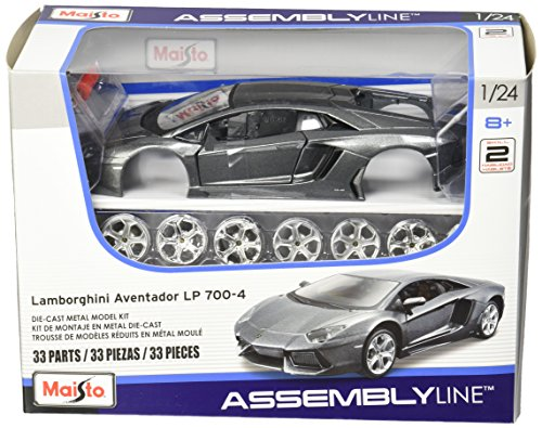 Maisto 1:24 Scale Assembly Line Lamborghini Aventador LP 700-4 Diecast Model Kit (Colors May Vary) (Lamborghini Aventador Model compare prices)