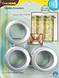 Dritz 1-9/16-Inch Inner Diameter Curtain Grommets, 8-Pack, Brushed Silver
