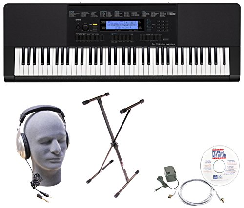 Casio Inc. Wk245 Epa 76-Key Epa Premium Keyboard Package With Headphones, Stand, Power Supply, 6-Foot Usb Cable And Emedia Instructional Software