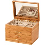 Mele & co Avril bamboo Jewellery display box 475by Mele & Co