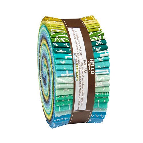 Karen Lewis Blueberry Park Cool Roll Up 40 2.5-inch Strips Jelly Roll Robert Kaufman Fabrics RU-493-40