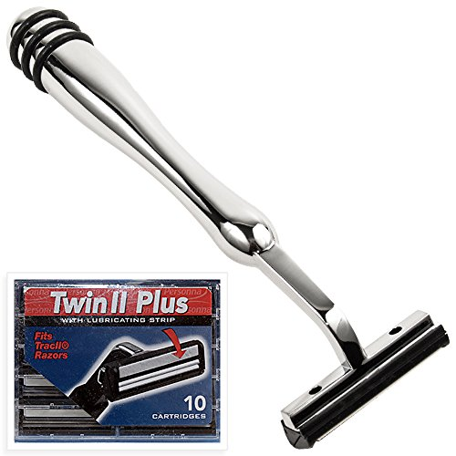 All Metal Trac 2 ( Trac II) Compatible Razor and 10 Personna Twin Blade Cartriges (Gillette Trac Ii compare prices)
