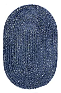"""Braided West Bay Blue Outdoor Rug Size: 27"""" x 46"""" Oval"""