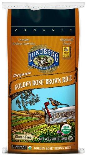 Lundberg Organic Golden Rose Medium Grain Brown Rice, 25-Pound (Brown Rice Bulk compare prices)