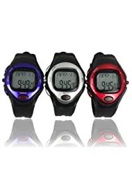 Foxnovo® R022M Sports Pulse Rate Monitor Calorie Counter Digital Wrist Watch with Alarm /Calendar /Stopwatch (...