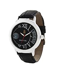 Golden Bell Stylish Black Sporty Dial Watch