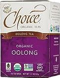 Choice Organic Oolong Tea, 1.1 Ounces 16-Count Box (Pack of 6)