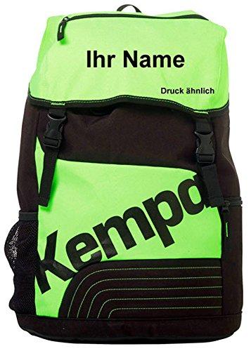 Kempa - Zaino da pallamano, colore: verde fluo/nero
