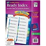 Avery Double-Column Ready Index Dividers, 16-Tab, 1 Set (11320)
