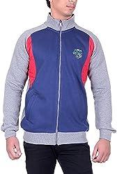 UCC Men's Fleece Regular Fit Sweatshirts (UCC6018GREY-L)