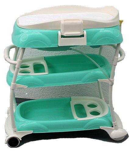 babybad badewanne wickeltisch kombi wickeltisch aufsatz babywanne mobil mintgruen. Black Bedroom Furniture Sets. Home Design Ideas