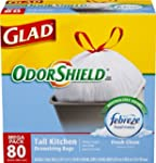 Glad OdorShield Tall Kitchen Drawstri...