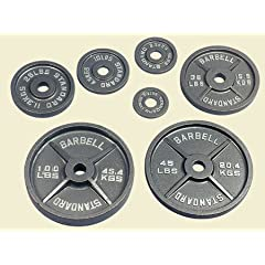 USA Sports Gray Olympic Plate - 100 lbs. by Troy Barbell