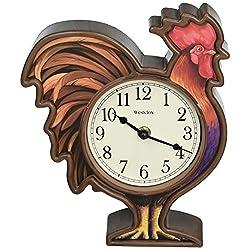Westclox 3D Rooster Wall Clock
