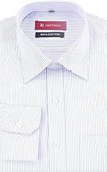 HASTINGS Men's Formal Shirt (V108_38, Blue, 38)