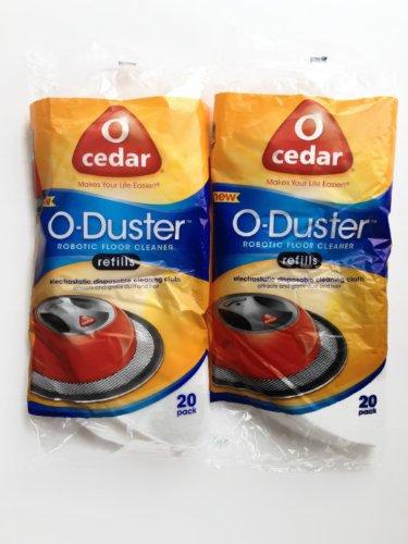 O Cedar O-Duster Robotic Floor Cleaner 20 Refills (2 Packs)