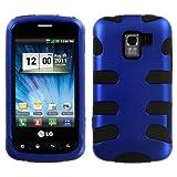 Hybrid Design Blue/Black Protector Case for LG Optimus Slider (LS700/VM701)) / LG Enlighten / LG Gelato Q (VS700)