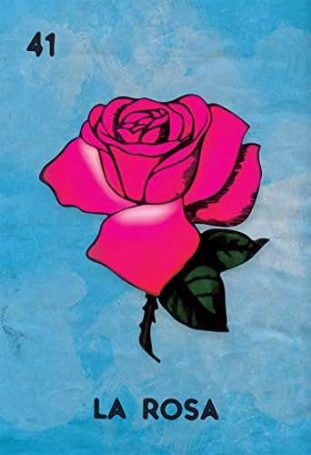 Amazon.com: Loteria La Rosa Mexican Retro Illustration Art Print
