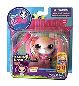Littlest Pet Shop Magic Motion with Magnetic Hair Brush Bunny 3412 - Very Rare