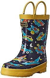 Hatley Boys\' Rainboots Space Cars, Blue, 9