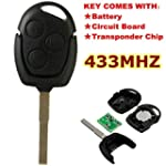 AUDEW 3 Button Remote Key Fob for For...