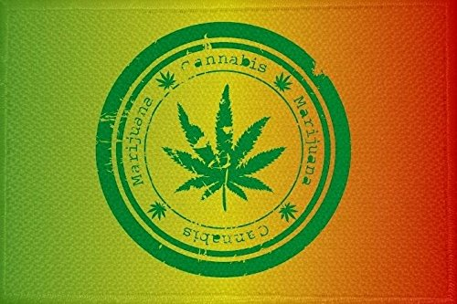 U24toppa bandiera motivo: Cannabis Marijuana n. 6, da 9x 6cm