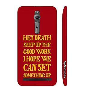 Asus Zenfone 2 Message to Death designer mobile hard shell case by Enthopia