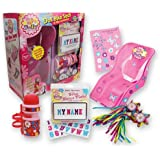 """Doll Bike Seat Gift Pack - """"Ride Along Dolly"""" Decorate Yourself Bike Seat, Name Plate, Water Bottle, and Handlebar Streamers (Fits American Girl and Stuffed Animals)"""