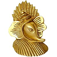 Beautiful Ganesh Mukh (Face) Shankh (Shell) Made In Brass Metal With Fine Carving By Bharat Haat BH00022