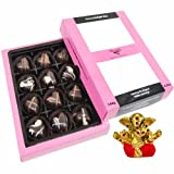 Chocholik Belgium Chocolate Gifts - Sweet And Romantic Chocolate Hearts With Small Ganesha Idol - Diwali Gifts
