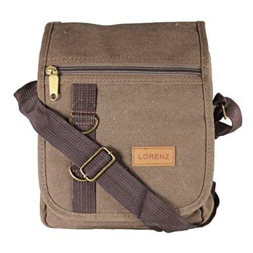 New Canvas Cross Across Body Shoulder Messenger Bag Unisex Mens Womans