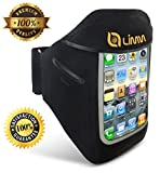 Limm Sport and Running Armband for iPhone 5, 5S, 5C, 4, 4S and iPod Touch 5 & 4 – Best in Comfort – ✭ FREE ✭ Downloadable eBook – Key Holder – Slim, Light, Water Resistant and Stylish – Protect Your Phone While Being Active, Jogging, Gym, Workout, Fitness or Other Sports – 100% SATISFACTION GUARANTEED Reviews