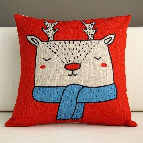 Home Christmas Carton New Year Bear Bedding Sofa Cushion Cover Pillow Case front-945583