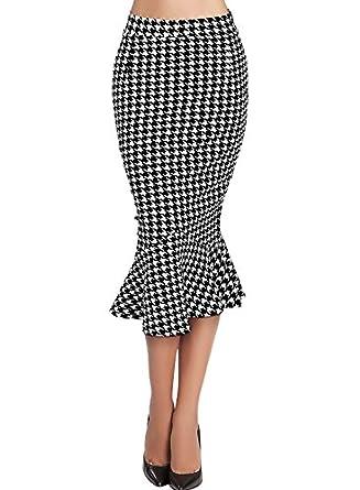 Missmay Women's Wear to Work Casual Office Ladies Ruffle