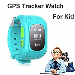 WayonaWayona Kids Tracker Smart Wrist Watch with GPS & GSM System with functions ( Children Safe Security/ SOS Surveillance/Pedometer / Remote Power Off/Alarms Anti-lost for Children) - Blue