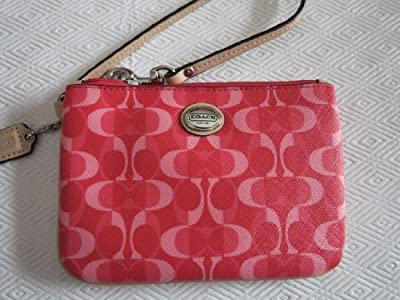 Coach Peyton Dream C Small Wristlet 50108 Coral/Tan