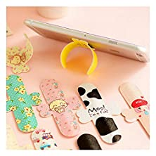 buy 10X Magic Spring Type Band-Aid Mobile Phone Holder Creative Cute Magic Stick Customization Universal Adjustable Collapsible Fashion Phone Stand Lines Pu Plus Metal Soft With Animation Shape