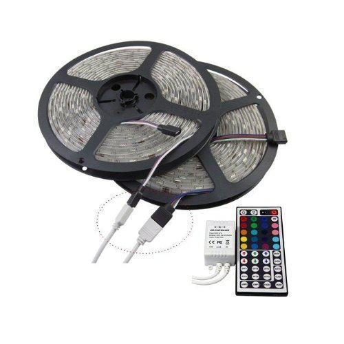 KLAREN-10M-328-Ft-5050-SMD-Water-Proof-Flexible-RGB-LED-Strip-Lighting-44-Key-Remote-Receiver