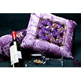 Jodhaa Cushion In Velvet And Brocade With Elephant Patch Lavender /Gold